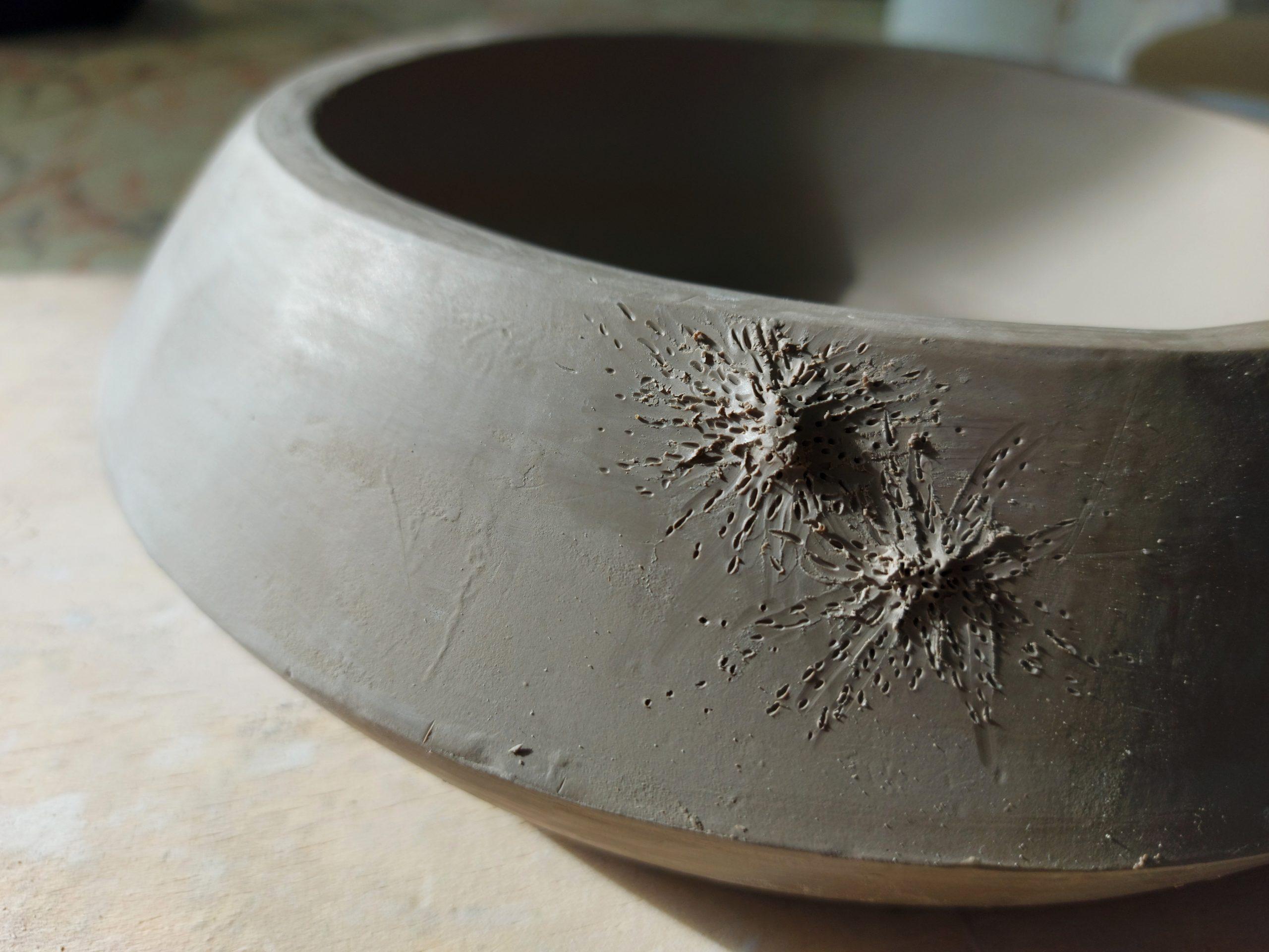Vajilla de alta cocina en proceso