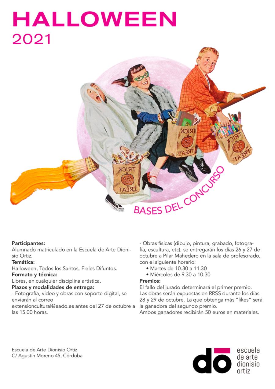 """Concurso """"Halloween 2001"""" para el alumnado de la Escuela Dionisio Ortiz."""
