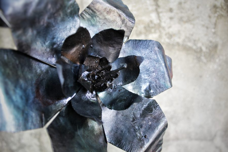 Flores de chapa batida