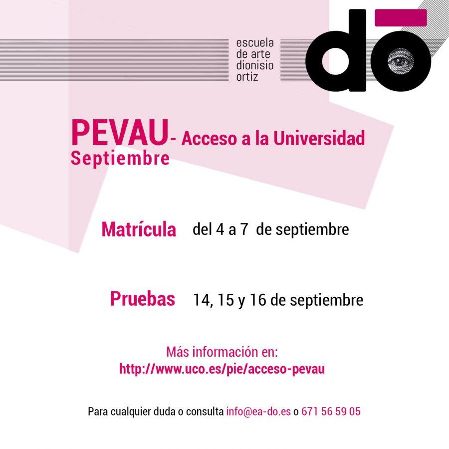 PEVAU - Acceso a la Universidad - Septiembre