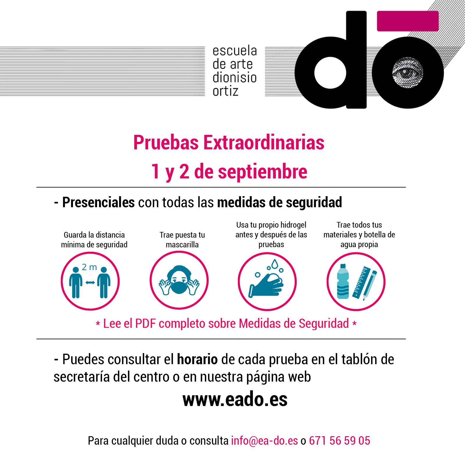 Pruebas Extraordinarias - Septiembre 2020
