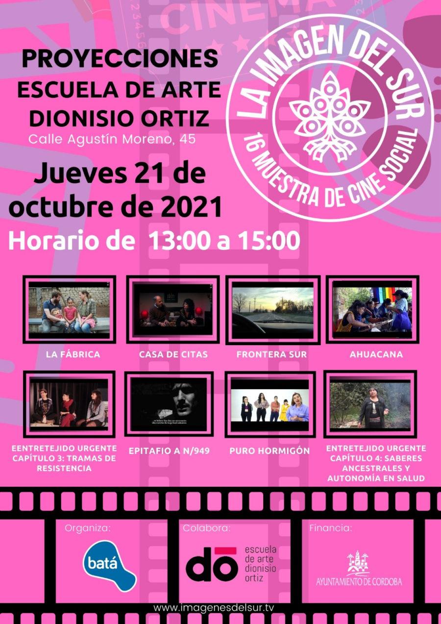 Cineforum el día 21 de octubre de 2021 en la Escuela Dionisio Ortiz.