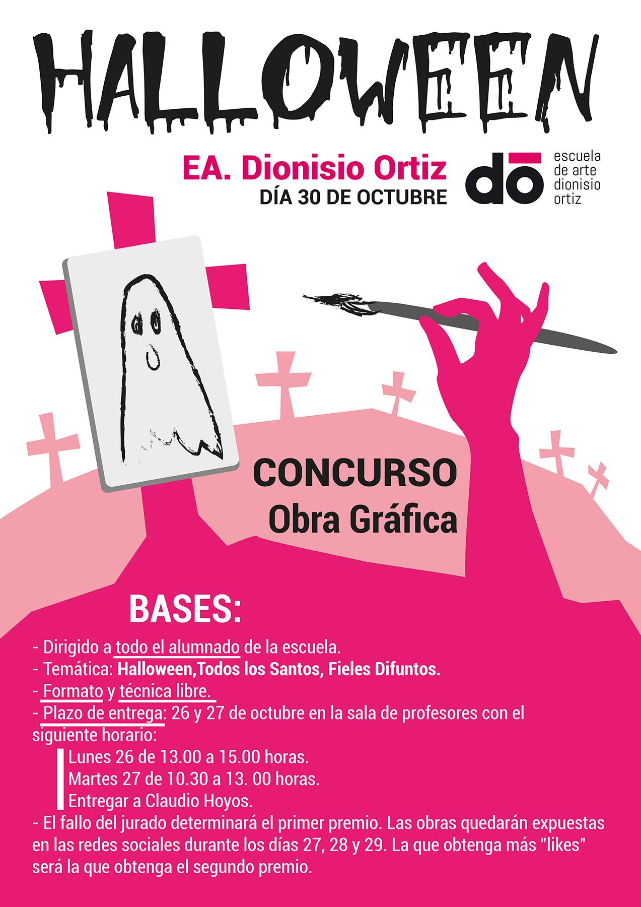 "Convocado concurso para alumnos de Obra Gráfica sobre ""Halloween""."