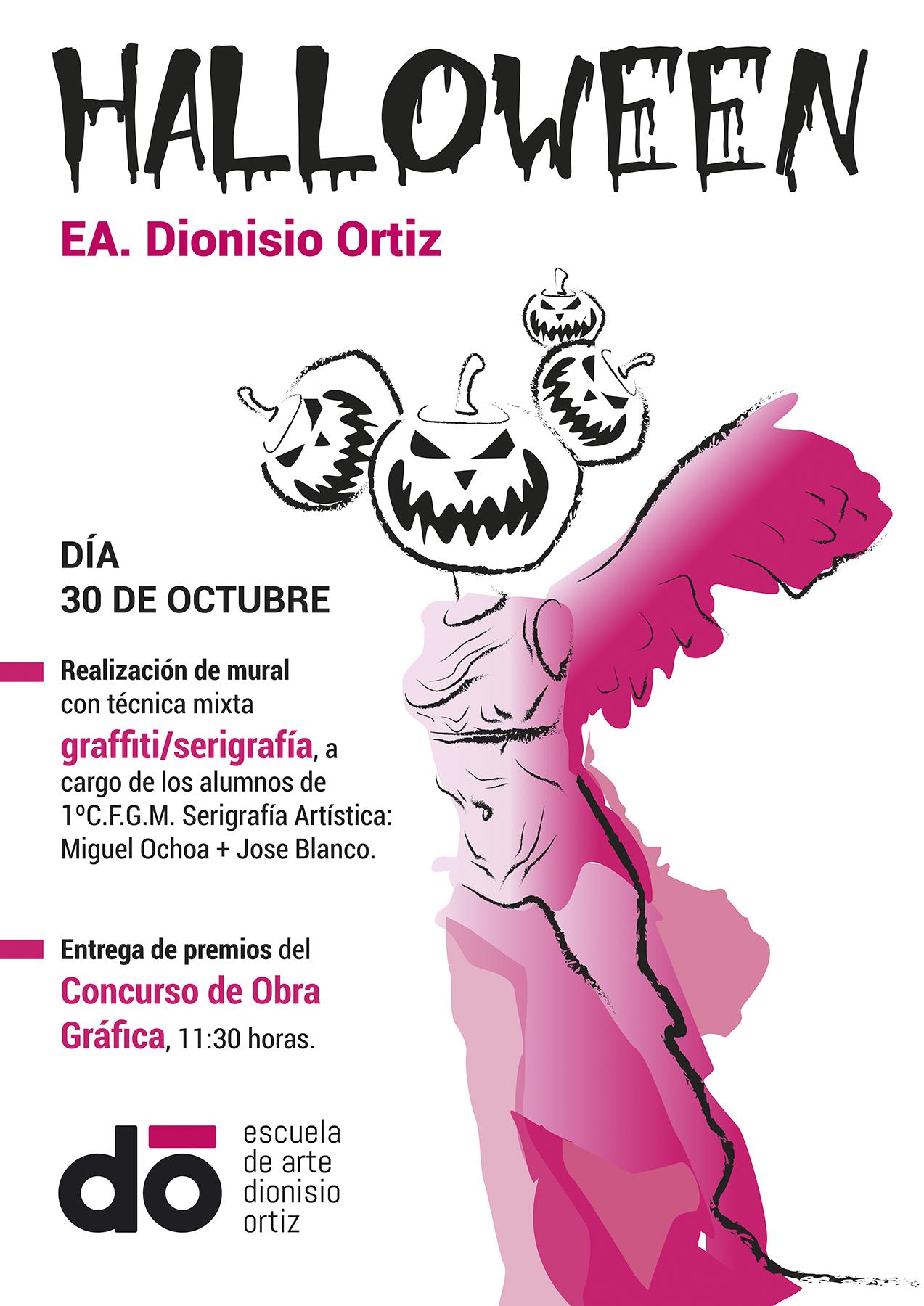 Anuncio de actividades en el centro para el 30 de octubre.